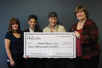NEW - donate money Davita check presentation 2012