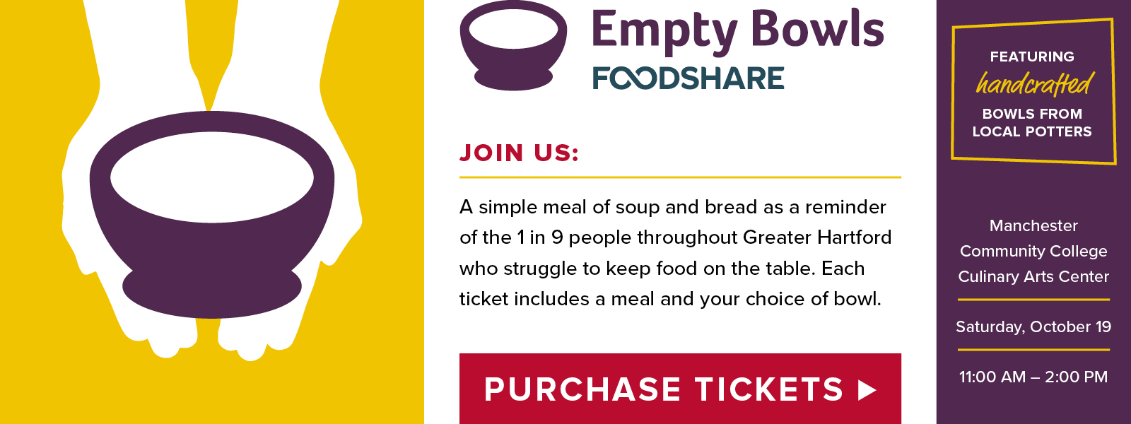 Foodshare Empty Bowls Event