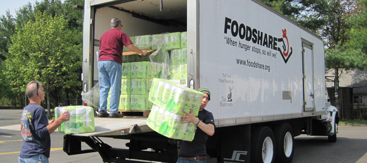 NEW - Foodshare unloading truck delivery 2011