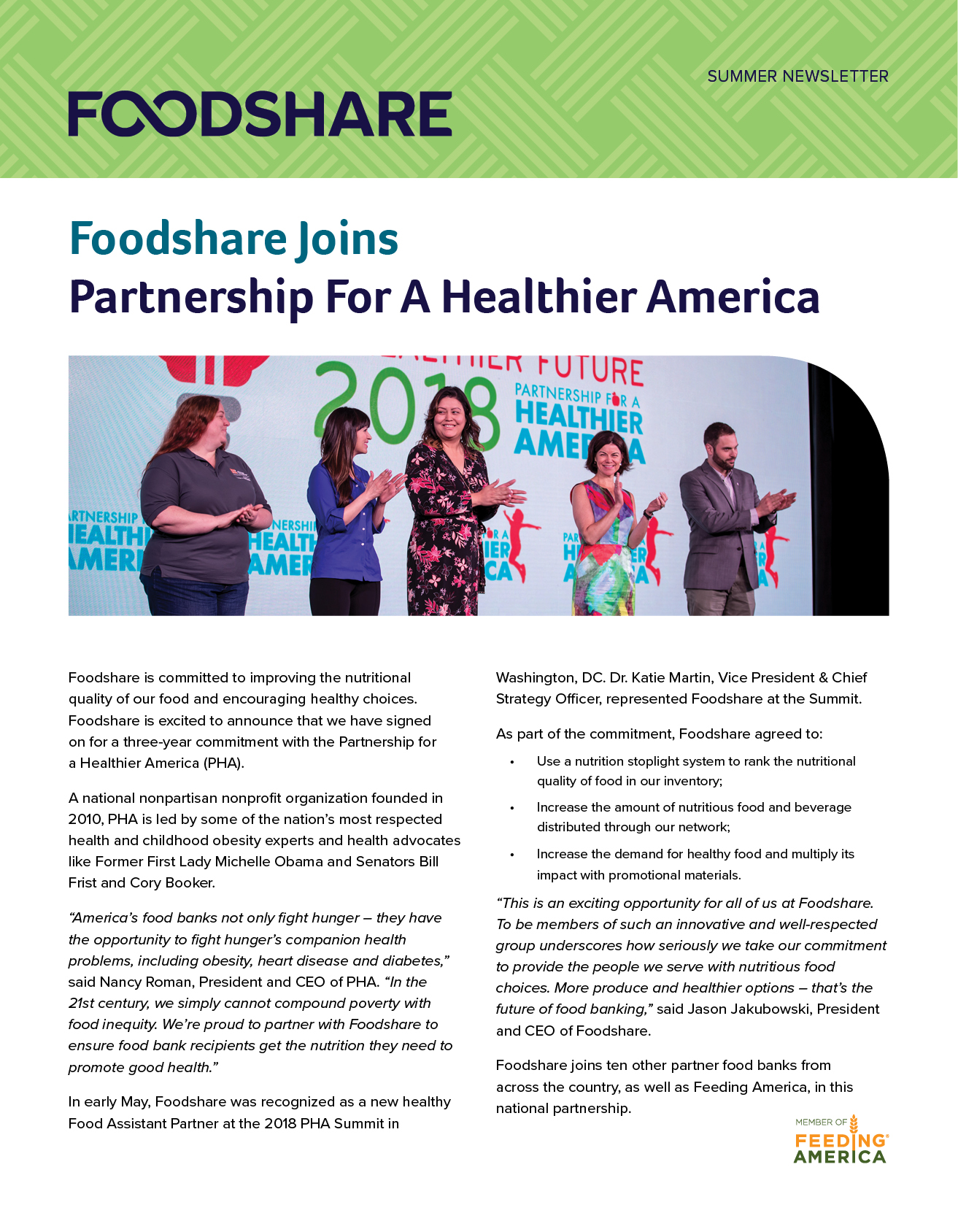 Foodshare Summer Newsletter 2018